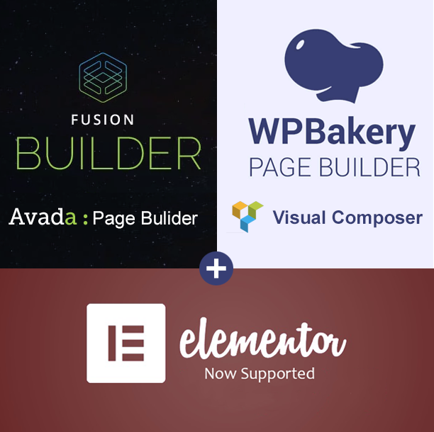 Compatible with Avada Fusion Builder & WP bakery page builder aka Visual Composer & elementor